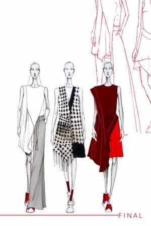 Fashion Moda-203 İllustrasyon Çizim Sanatsal Modern Dekorasyon Kanvas Tabloları