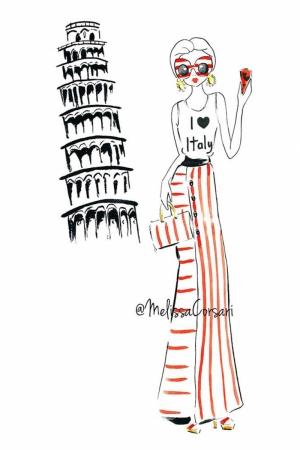 Fashion Moda-205 İllustrasyon Çizim Sanatsal Modern Dekorasyon Kanvas Tabloları