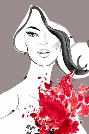 Fashion Moda-206 İllustrasyon Çizim Sanatsal Modern Dekorasyon Kanvas Tabloları