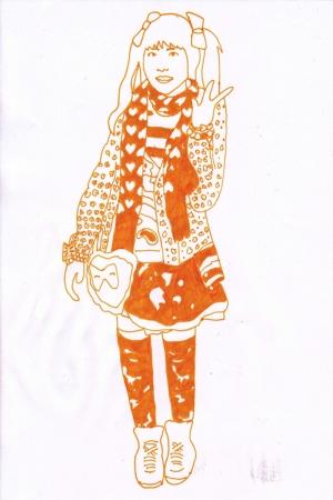 Fashion Moda-209 İllustrasyon Çizim Sanatsal Modern Dekorasyon Kanvas Tabloları