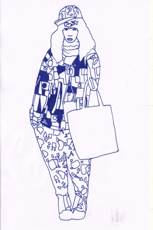 Fashion Moda-210 İllustrasyon Çizim Sanatsal Modern Dekorasyon Kanvas Tabloları