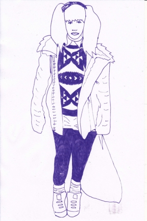 Fashion Moda-211 İllustrasyon Çizim Sanatsal Modern Dekorasyon Kanvas Tabloları