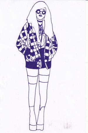 Fashion Moda-212 İllustrasyon Çizim Sanatsal Modern Dekorasyon Kanvas Tabloları