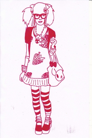 Fashion Moda-213 İllustrasyon Çizim Sanatsal Modern Dekorasyon Kanvas Tabloları