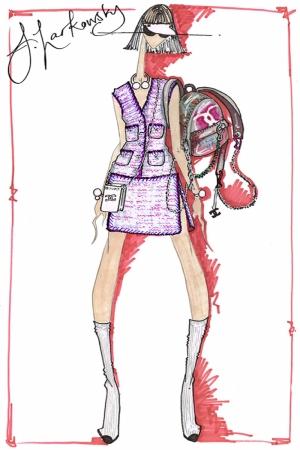 Fashion Moda-220 İllustrasyon Çizim Sanatsal Modern Dekorasyon Kanvas Tabloları