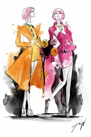 Fashion Moda-223 İllustrasyon Çizim Sanatsal Modern Dekorasyon Kanvas Tabloları