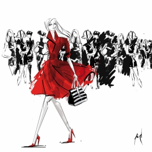 Fashion Moda-224 İllustrasyon Çizim Sanatsal Modern Dekorasyon Kanvas Tabloları