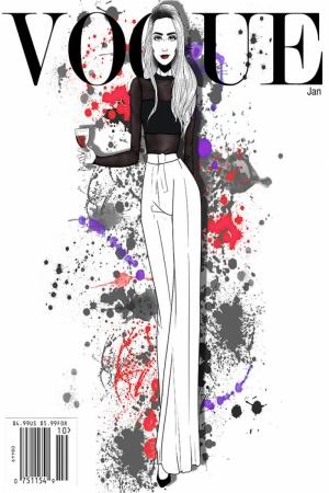 Fashion Moda-228 İllustrasyon Çizim Sanatsal Modern Dekorasyon Kanvas Tabloları