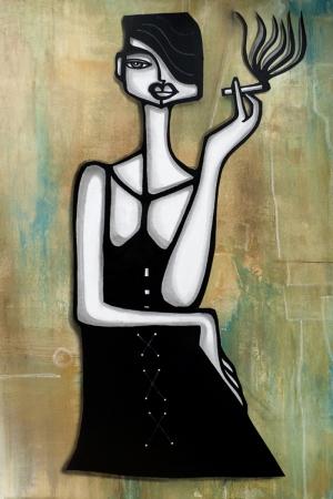 Fashion Moda-23 Sanatsal Modern Dekorasyon Kanvas Tabloları