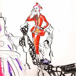 Fashion Moda-230 İllustrasyon Çizim Sanatsal Modern Dekorasyon Kanvas Tabloları