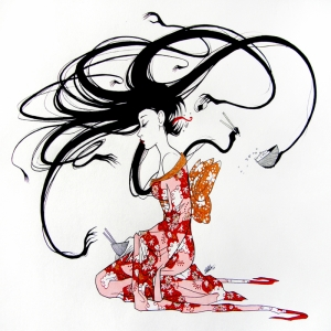 Fashion Moda-233 İllustrasyon Çizim Sanatsal Modern Dekorasyon Kanvas Tabloları