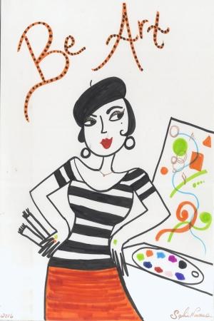 Fashion Moda-236 İllustrasyon Çizim Sanatsal Modern Dekorasyon Kanvas Tabloları