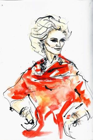 Fashion Moda-238 İllustrasyon Çizim Sanatsal Modern Dekorasyon Kanvas Tabloları
