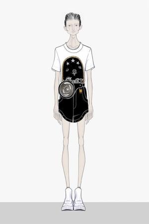 Fashion Moda-242 İllustrasyon Çizim Sanatsal Modern Dekorasyon Kanvas Tabloları