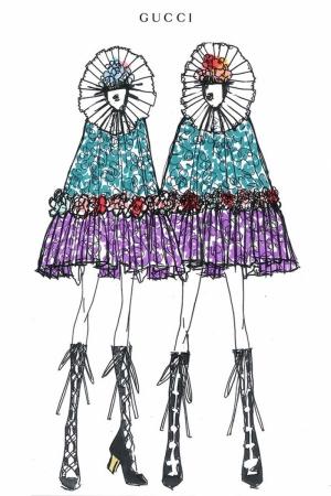 Fashion Moda-246 İllustrasyon Çizim Sanatsal Modern Dekorasyon Kanvas Tabloları