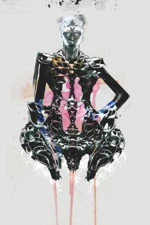 Fashion Moda-248 İllustrasyon Çizim Sanatsal Modern Dekorasyon Kanvas Tabloları