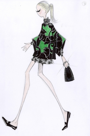 Fashion Moda-249 İllustrasyon Çizim Sanatsal Modern Dekorasyon Kanvas Tabloları