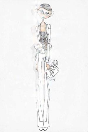 Fashion Moda-252 İllustrasyon Çizim Sanatsal Modern Dekorasyon Kanvas Tabloları