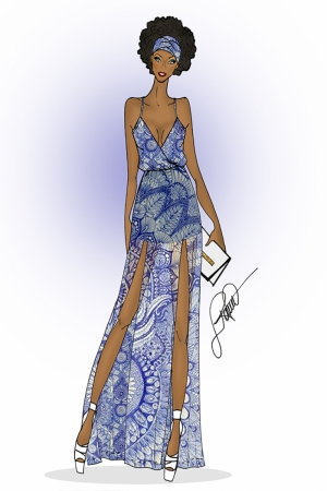 Fashion Moda-254 İllustrasyon Çizim Sanatsal Modern Dekorasyon Kanvas Tabloları