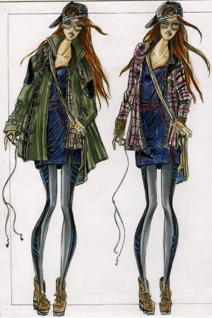 Fashion Moda-255 İllustrasyon Çizim Sanatsal Modern Dekorasyon Kanvas Tabloları