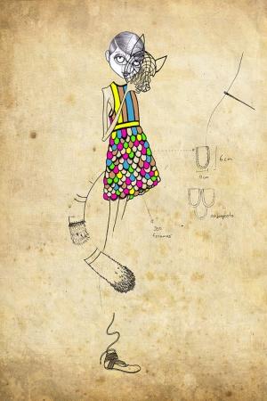 Fashion Moda-257 İllustrasyon Çizim Sanatsal Modern Dekorasyon Kanvas Tabloları