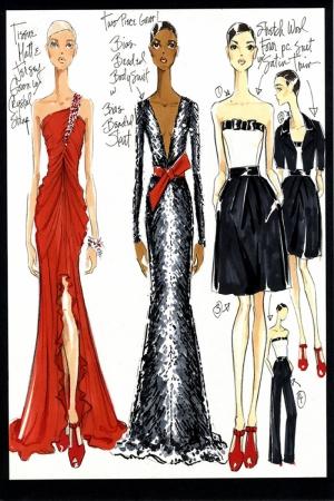 Fashion Moda-260 İllustrasyon Çizim Sanatsal Modern Dekorasyon Kanvas Tabloları