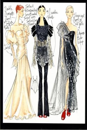 Fashion Moda-261 İllustrasyon Çizim Sanatsal Modern Dekorasyon Kanvas Tabloları