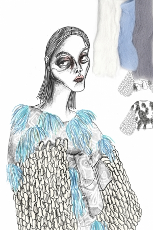 Fashion Moda-264 İllustrasyon Çizim Sanatsal Modern Dekorasyon Kanvas Tabloları