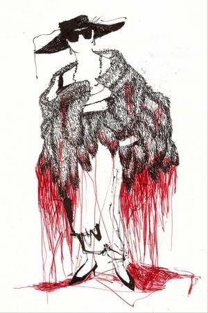 Fashion Moda-265 İllustrasyon Çizim Sanatsal Modern Dekorasyon Kanvas Tabloları