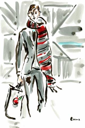 Fashion Moda-269 İllustrasyon Çizim Sanatsal Modern Dekorasyon Kanvas Tabloları