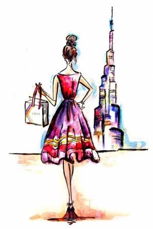 Fashion Moda-278 İllustrasyon Çizim Sanatsal Modern Dekorasyon Kanvas Tabloları