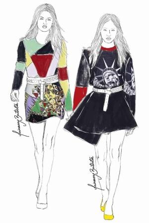 Fashion Moda-280 İllustrasyon Çizim Sanatsal Modern Dekorasyon Kanvas Tabloları