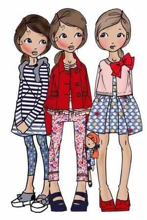 Fashion Moda-281 İllustrasyon Çizim Sanatsal Modern Dekorasyon Kanvas Tabloları
