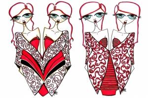 Fashion Moda-283 Sanatsal Modern Dekorasyon Kanvas Tabloları