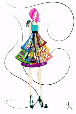 Fashion Moda-287 İllustrasyon Çizim Sanatsal Modern Dekorasyon Kanvas Tabloları