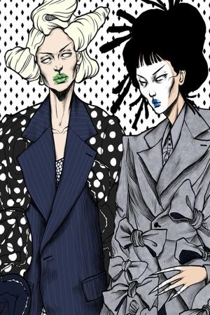 Fashion Moda-84 Sanatsal Modern Dekorasyon Kanvas Tabloları