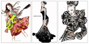 Fashion Moda-90 Sanatsal Modern Dekorasyon Kanvas Tabloları