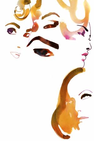 Fashion Moda-93 Sanatsal Modern Dekorasyon Kanvas Tabloları
