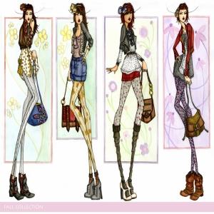 Fashion Moda-94 Sanatsal Modern Dekorasyon Kanvas Tabloları