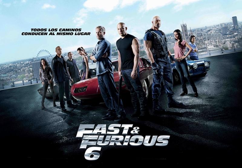 Fast and Furious 6 Hızlı ve Öfkeli Kanvas Tablo