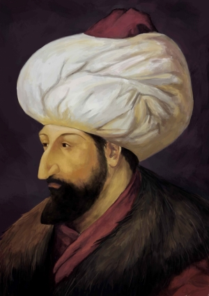 Fatih Sultan Mehmet Portre Osmanlı Tarihi Kanvas Tablo