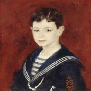 Fernand Halphen Çocukken, Auguste Renoir Fernand Halphen As A Boy Klasik Sanat Kanvas Tablo