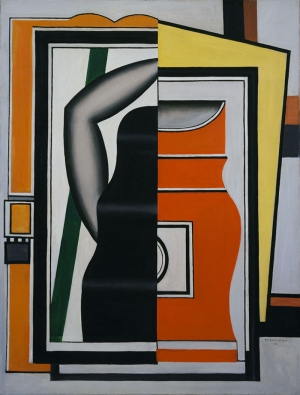 Fernand Leger Ayna Soyut Yağlı Boya Klasik Sanat Canvas Tablo