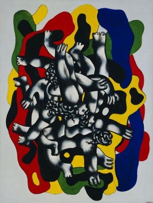 Fernand Leger Dalgiçlar Soyut Yağlı Boya Klasik Sanat Canvas Tablo