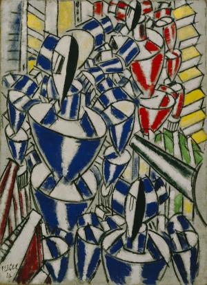 Fernand Leger Rus Balerinlerin Çıkışı Soyut Yağlı Boya Klasik Sanat Canvas Tablo