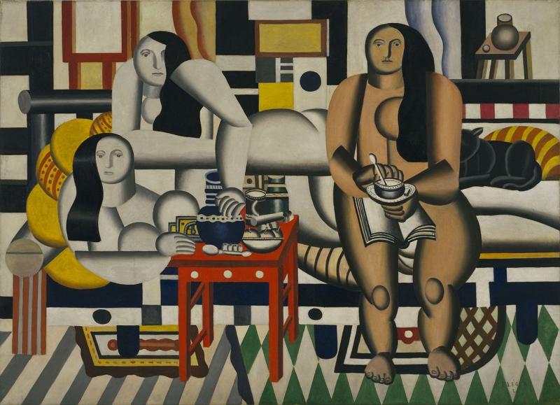 Fernand Leger Üç Kadın Soyut Yağlı Boya Klasik Sanat Canvas Tablo