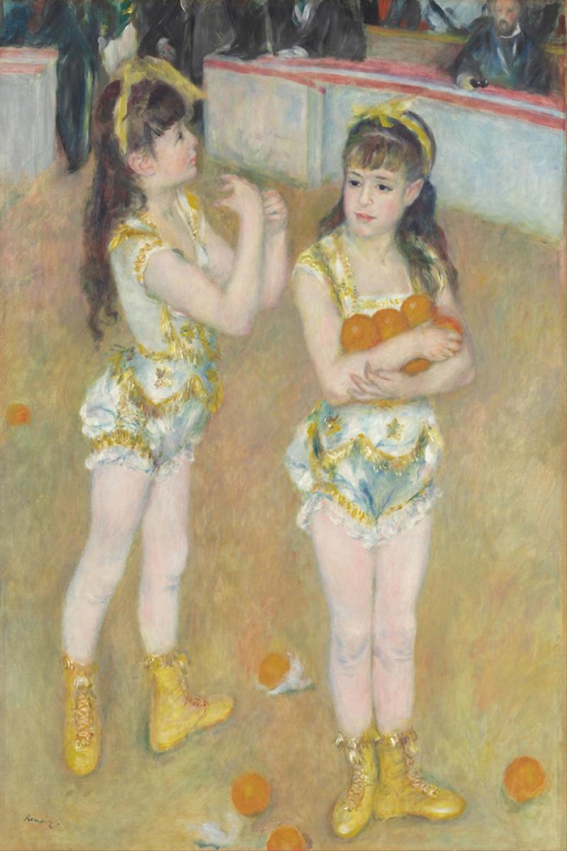 Fernando Francisca ve Angelina Wartenberg Sirkindeki Akrobatlar Pierre August Renoir Klasik Sanat Kanvas Tablo