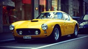 Ferrari 250 GT Berlineatta Klasik Spor Otomobil Kanvas Tablo
