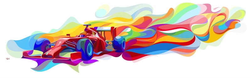 Ferrari Fantastik Abstract Kanvas Tablo