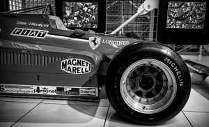Ferrari Formula Aracı Siyah Beyaz Fotoğraf Kanvas Tablo